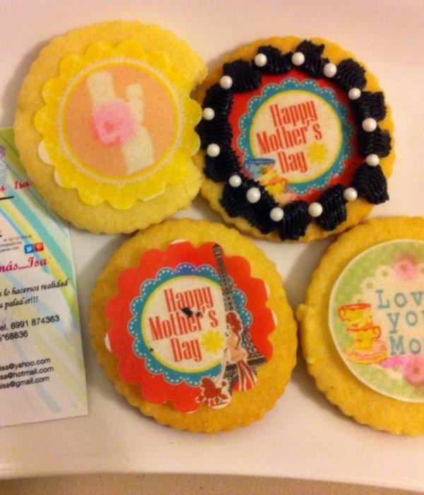 Mothers Edible Wafer Paper Buttercookies