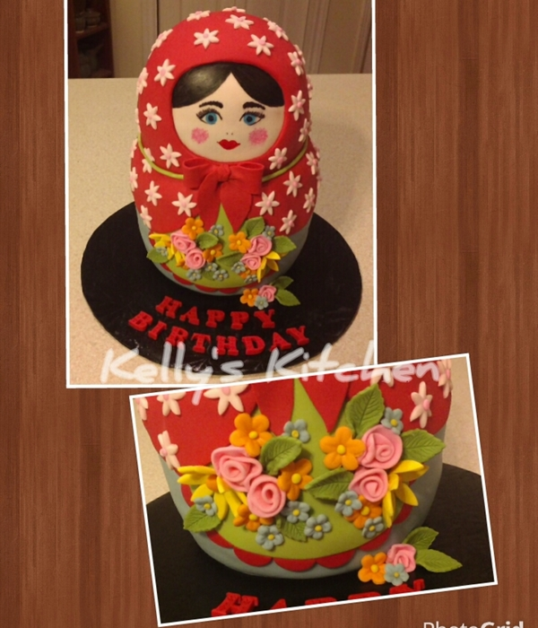 Matryoshka Doll Birthday Cake