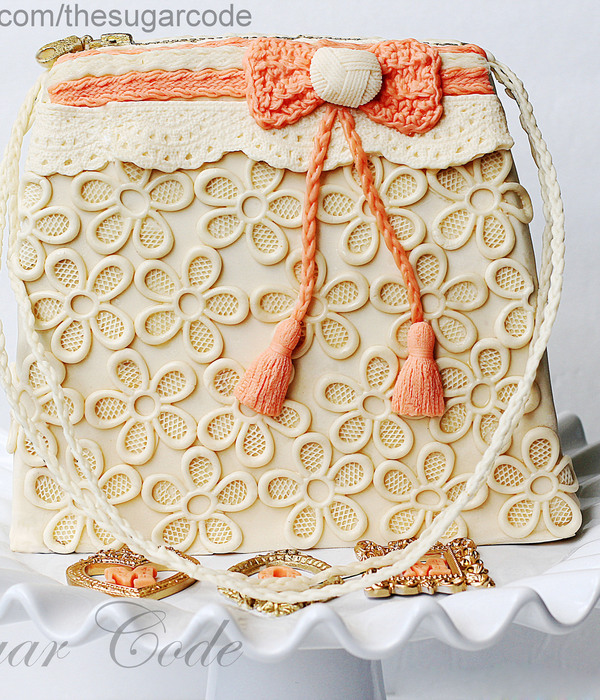 Fabric Inspired Handbag Cake