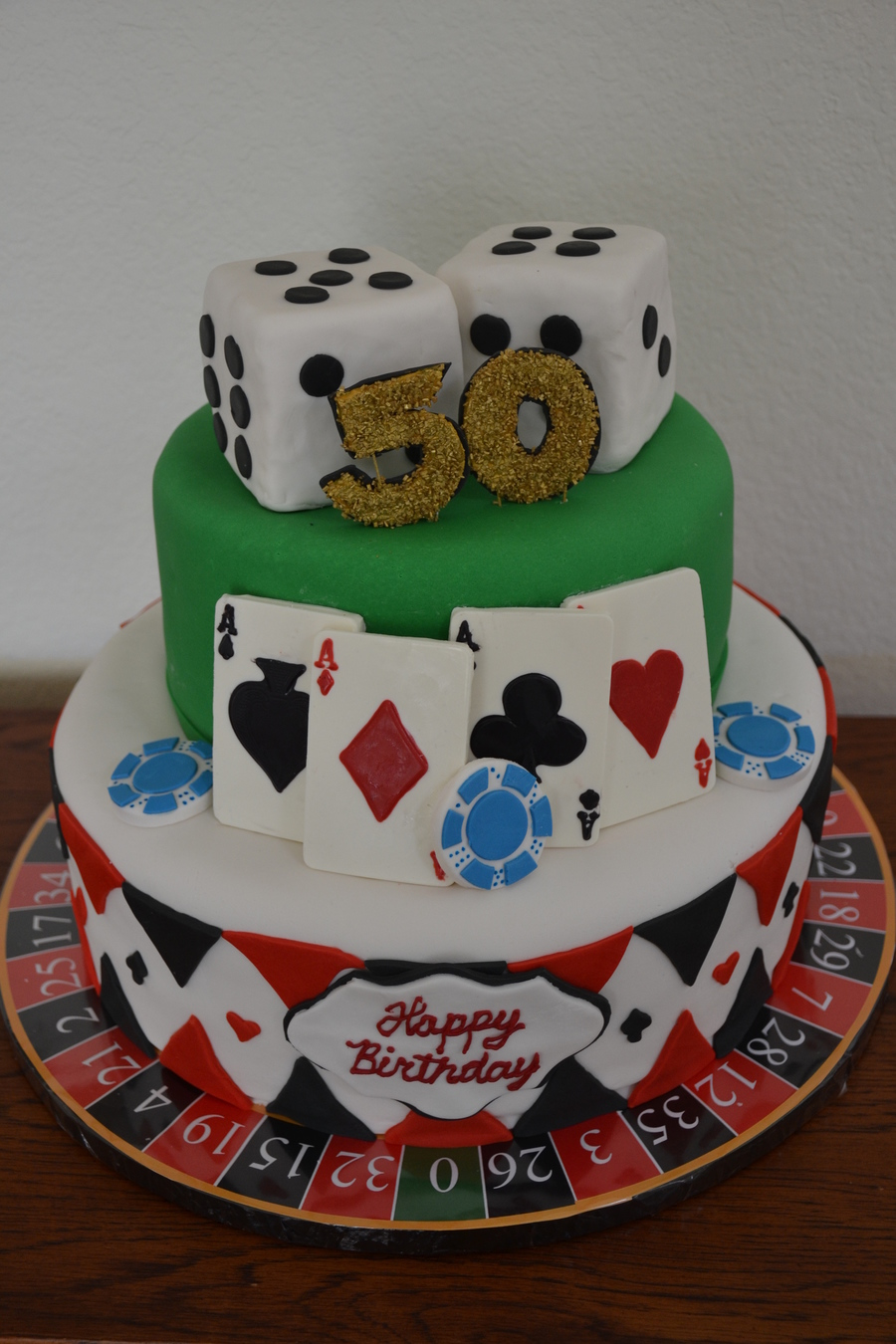 Casino Themed 50th Birthday Cake Cakecentral