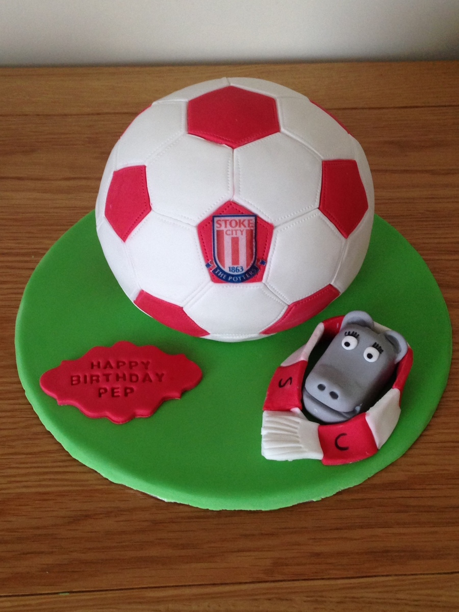 Stoke City Football Birthday Cake Cakecentral