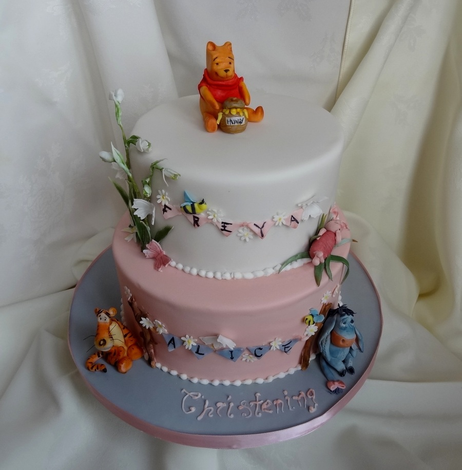 Winnie The Pooh Christening Cake on Cake Central