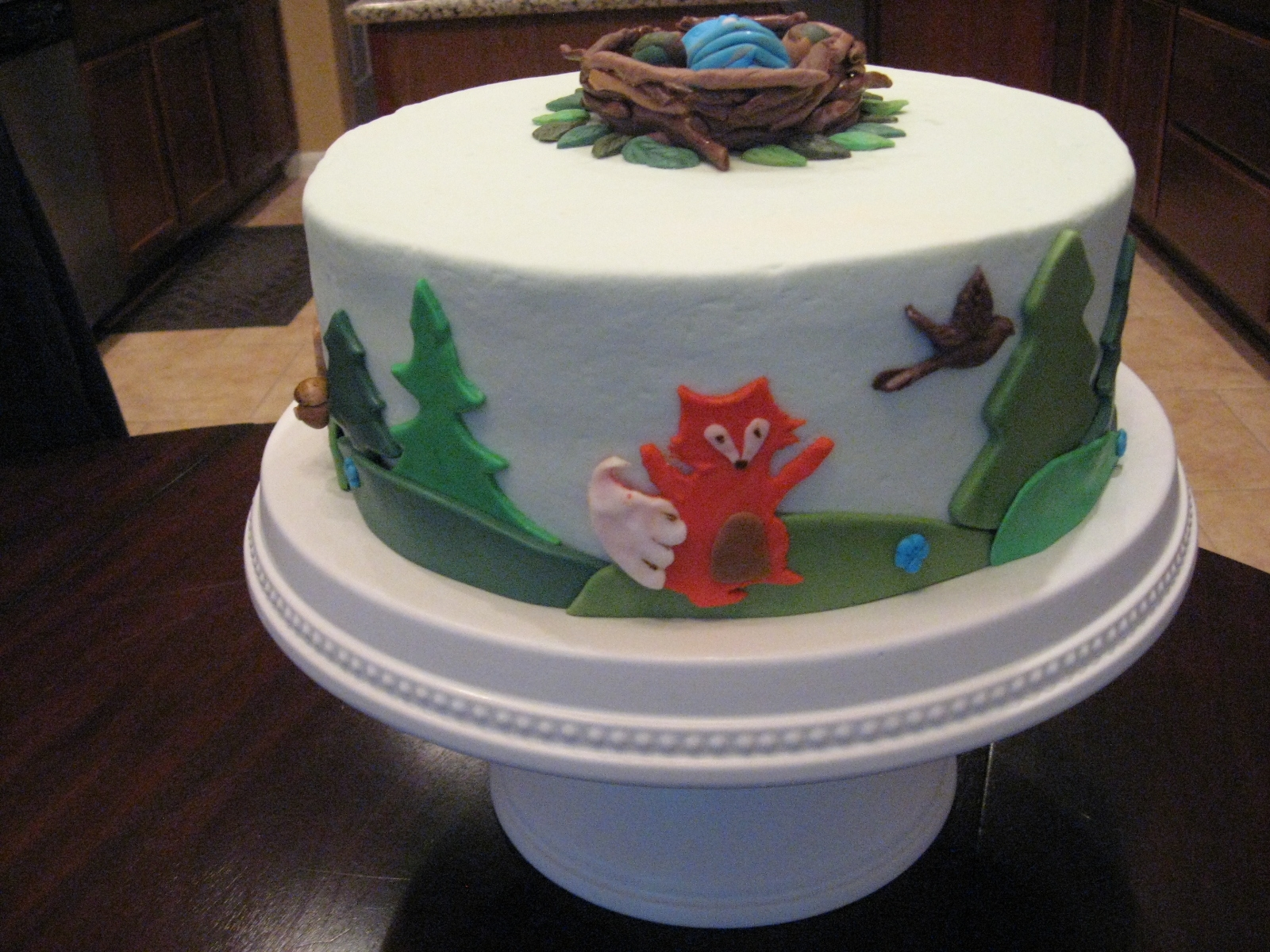 Woodland Baby Shower Cake CakeCentral