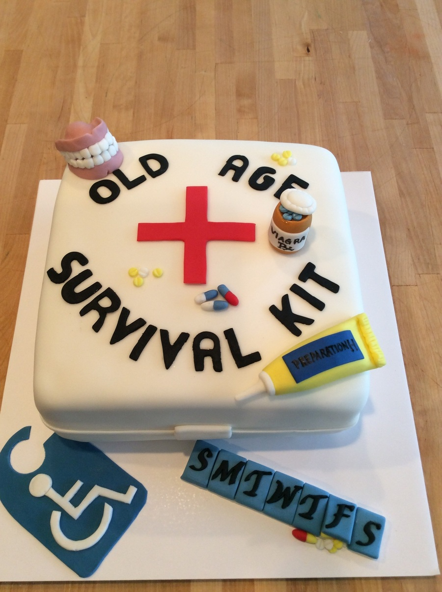 Old Age Survival Cake Cakecentral Com