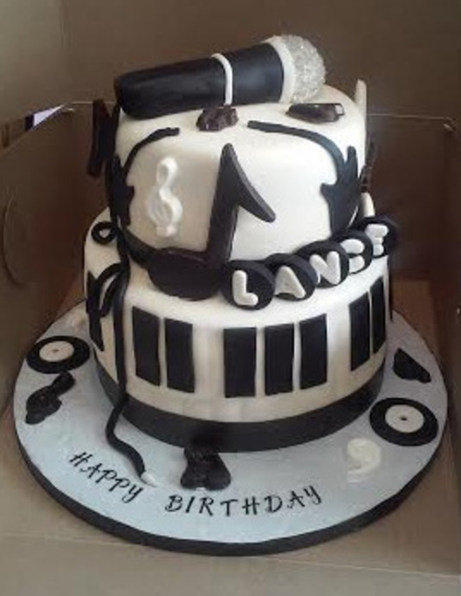 Birthday Cake Ideas Music : 2 Tier Music Themed Birthday Cake - CakeCentral.com
