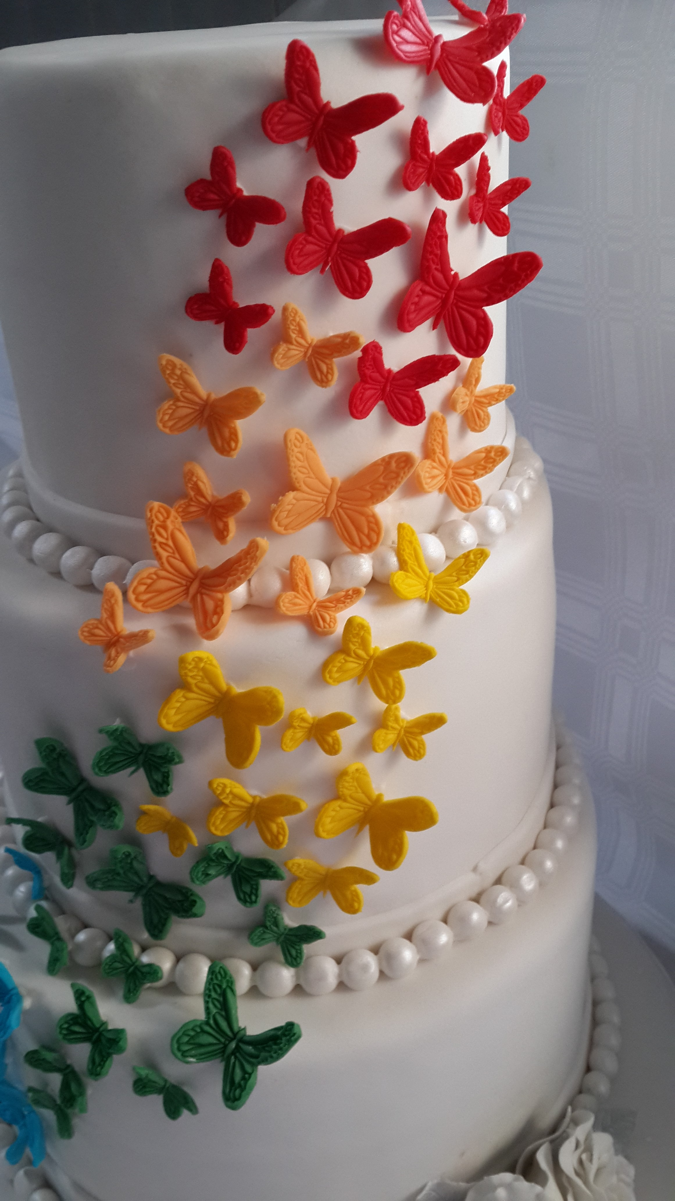 rainbow butterfly wedding cake rainbow butterfly cake cakecentral 18957