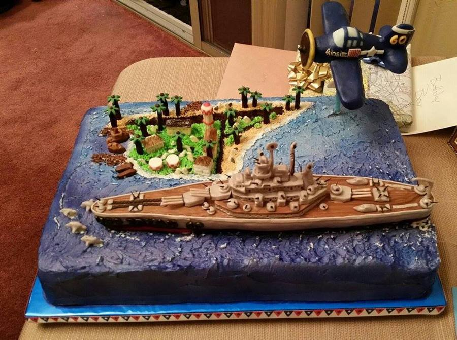 Battleship Wwii 60th Birthday Cake Cakecentral Com