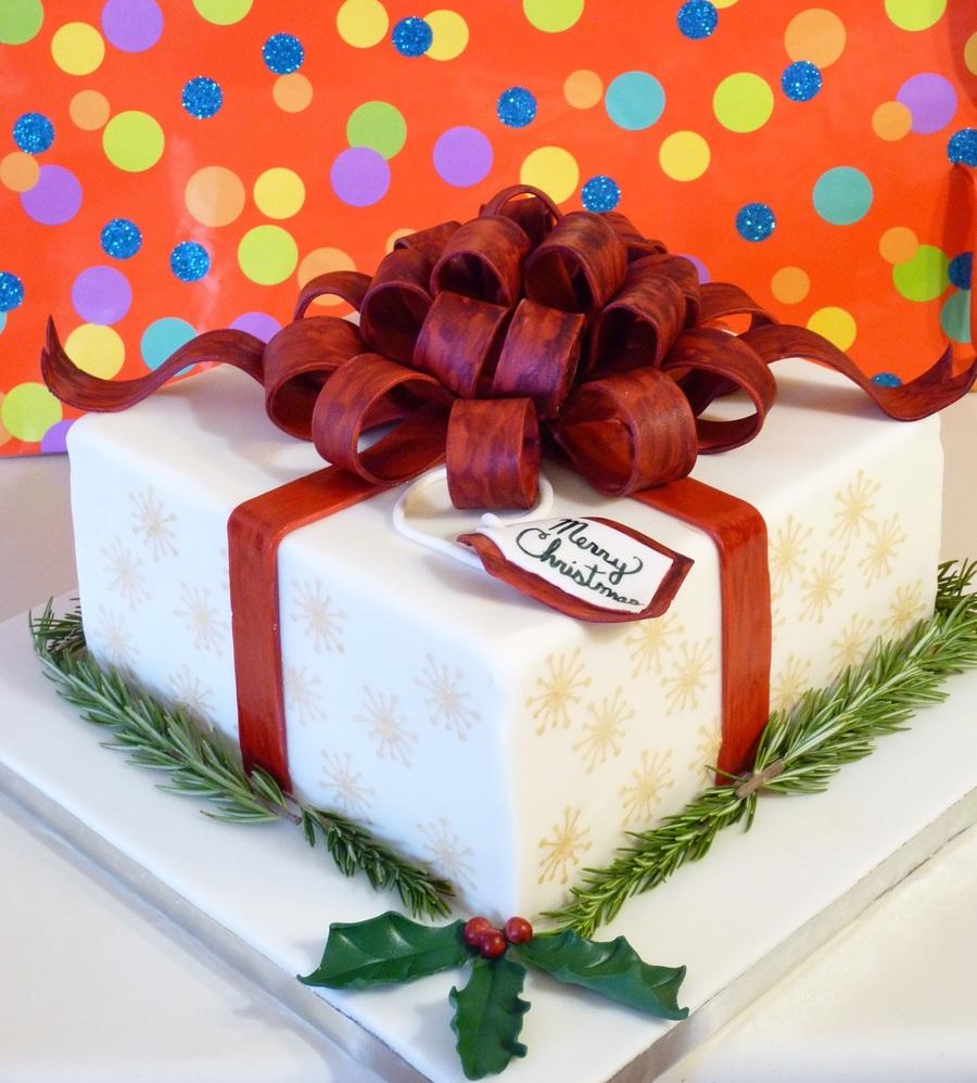 Christmas Gift Box Cake Cakecentral Com