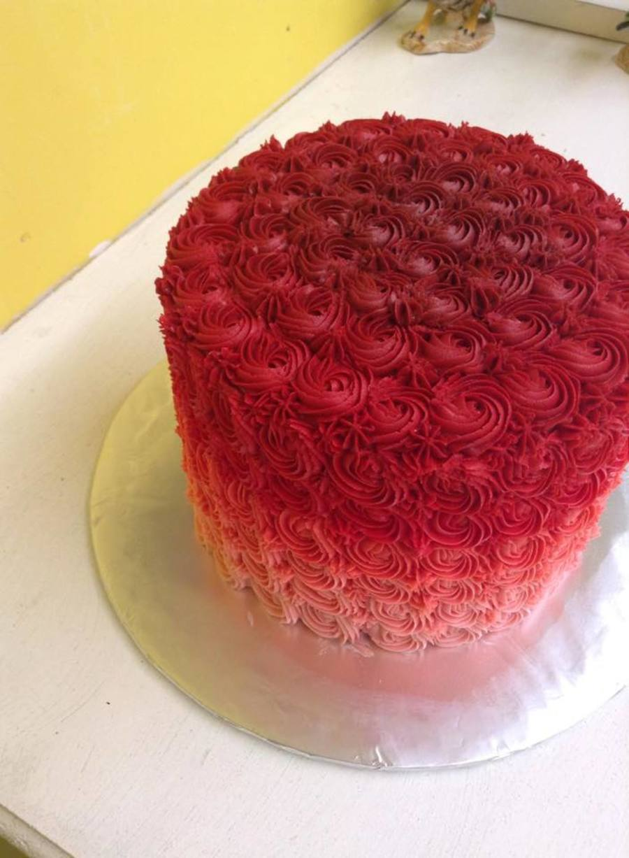 Red Ombre Cake Recipe