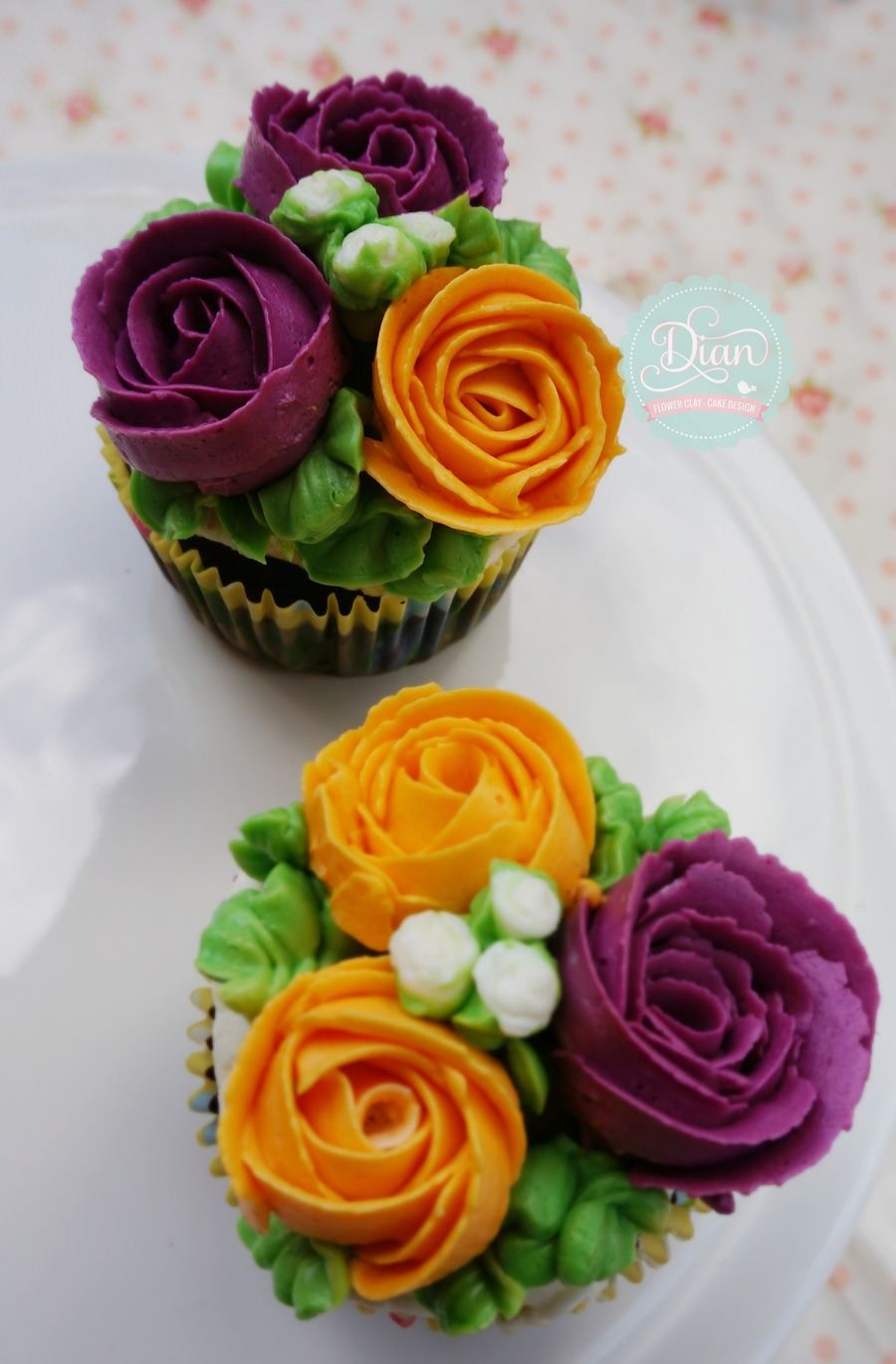 Butter Cream Flower Cupcake on Cake Central