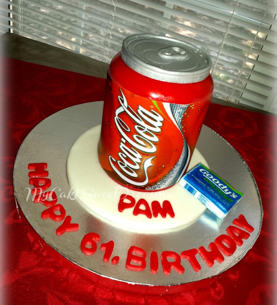 Coca Cola Can Birthday Cake Cakecentral Com