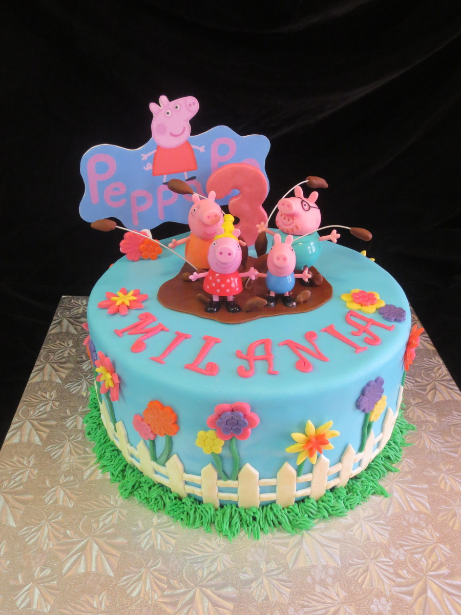 Fabulous Peppa Pig Birthday Cake Cakecentral Com Funny Birthday Cards Online Overcheapnameinfo