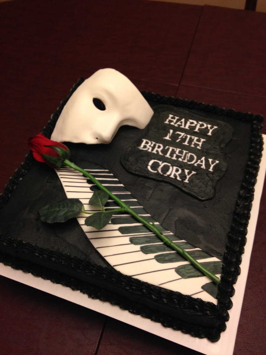 Phantom Of The Opera Cake Cakecentral Com