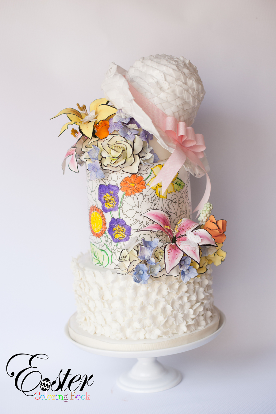 The Easter Bonnet Easter Coloring Book Cake Collaboration