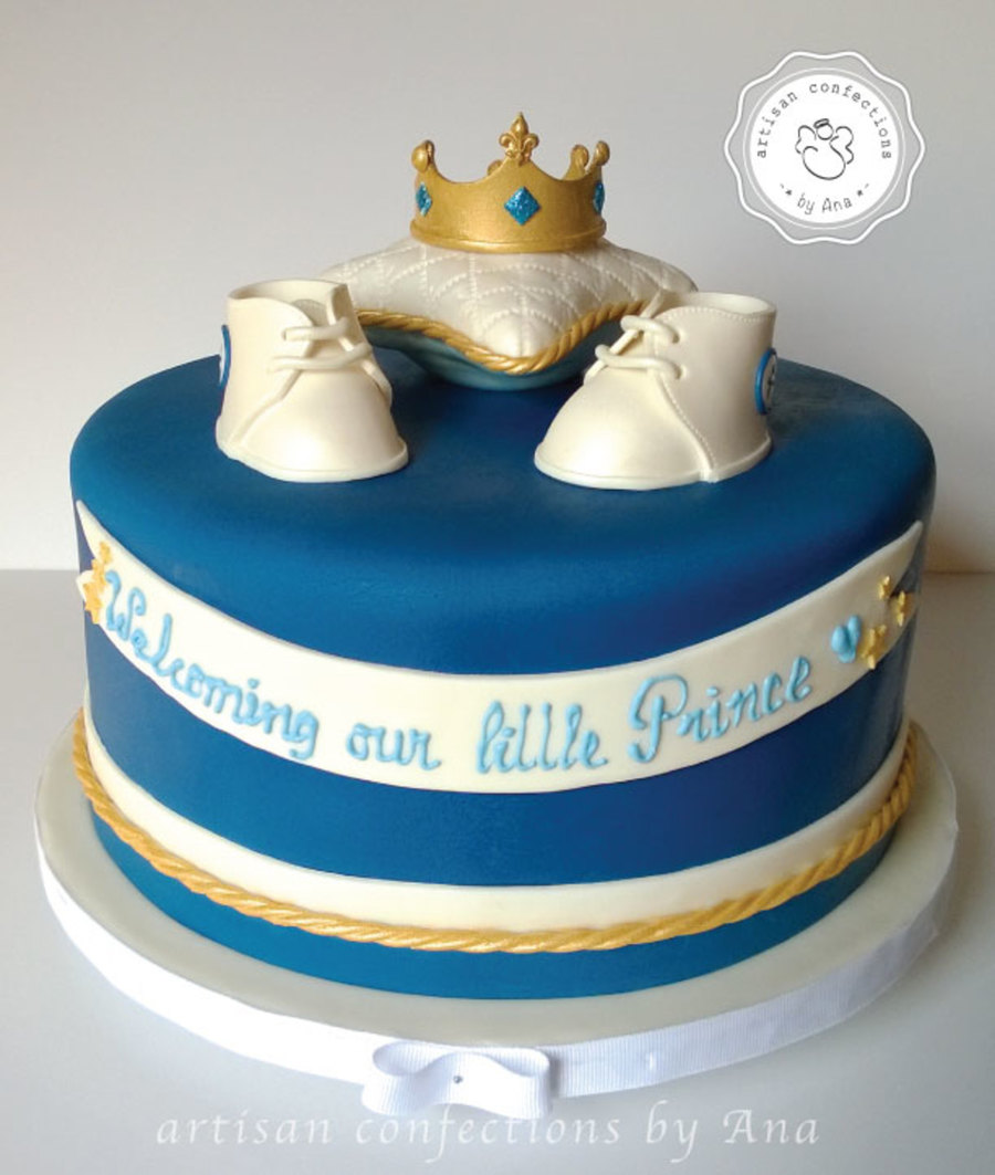 Prince Crown Baby Shower Cake