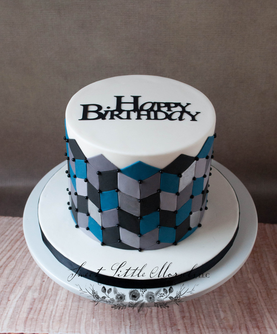 Geometric Birthday Cake on Cake Central