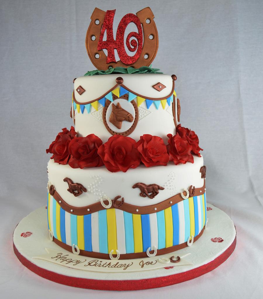 12 Cool Kentucky Derby Inspired Home Decor Ideas: Kentucky Derby Cake