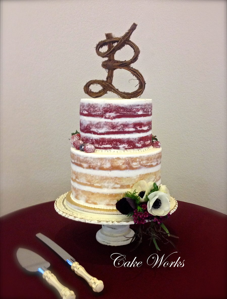 Naked Cake With Berries And Anemone on Cake Central