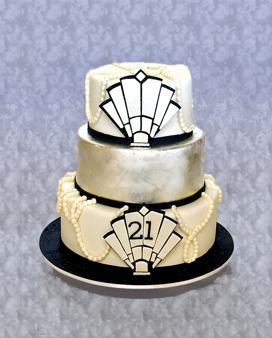Art Deco Birthday Cake : Art Deco/1920 s 21St Birthday Cake - CakeCentral.com