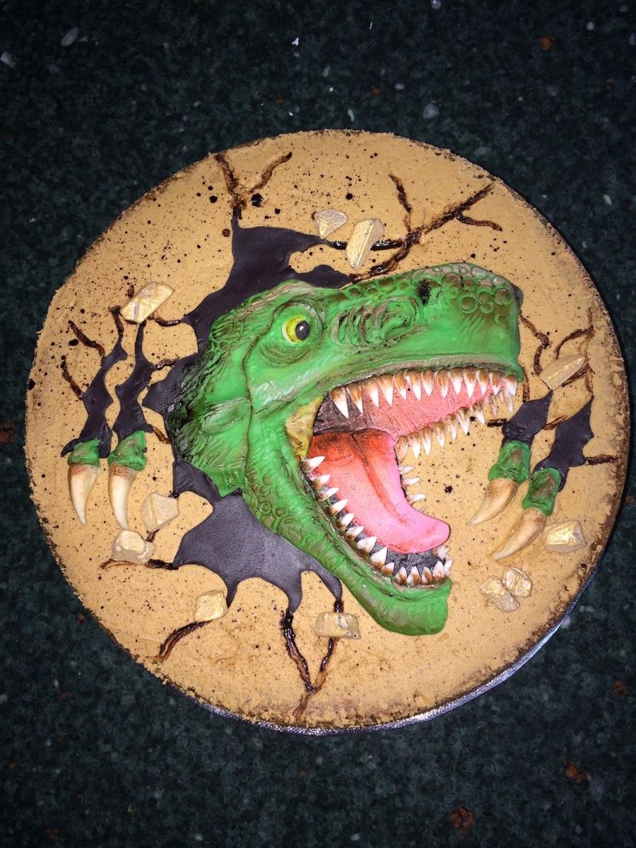 Dinosaur Cookie Cake By 2bi Cakes Cakecentral Com