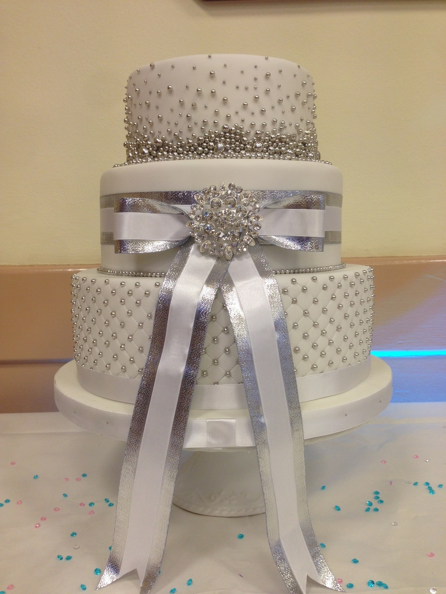 25th Silver Wedding Anniversary Cake Cakecentral Com