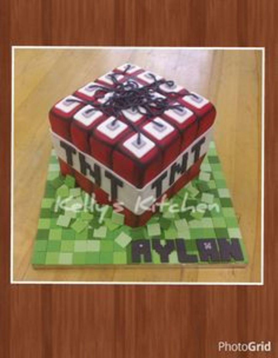 Minecraft Tnt Birthday Cake Cakecentral
