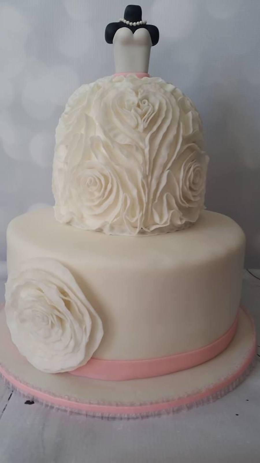 Wedding Dress Cake CakeCentralcom