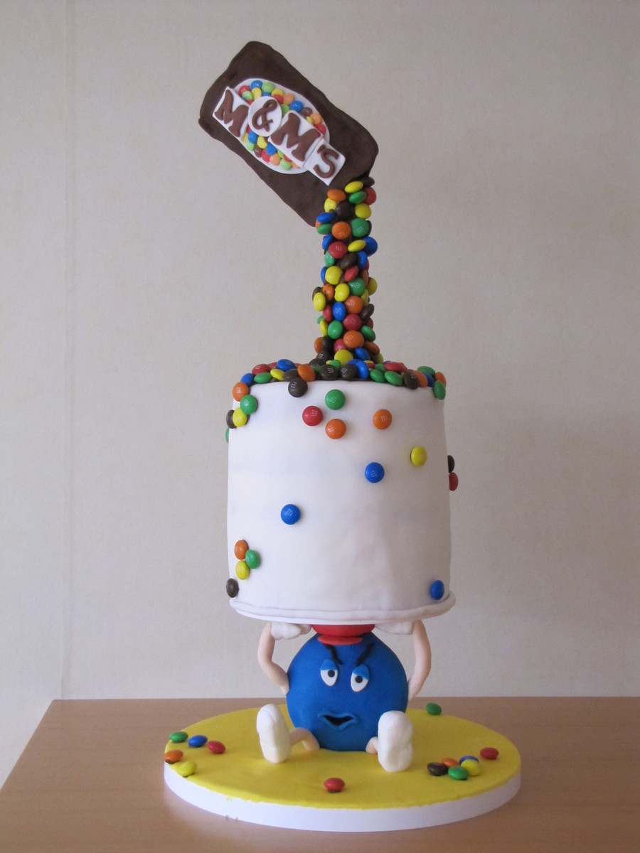 M Amp M S Defying Gravity Cake Cakecentral Com
