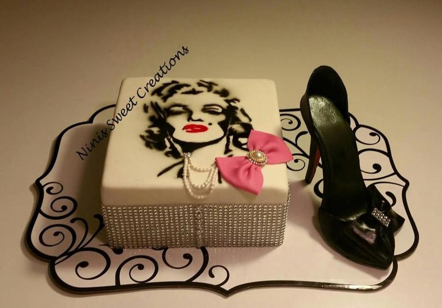 Marilyn Monroe Themed Birthday Cake Cakecentral