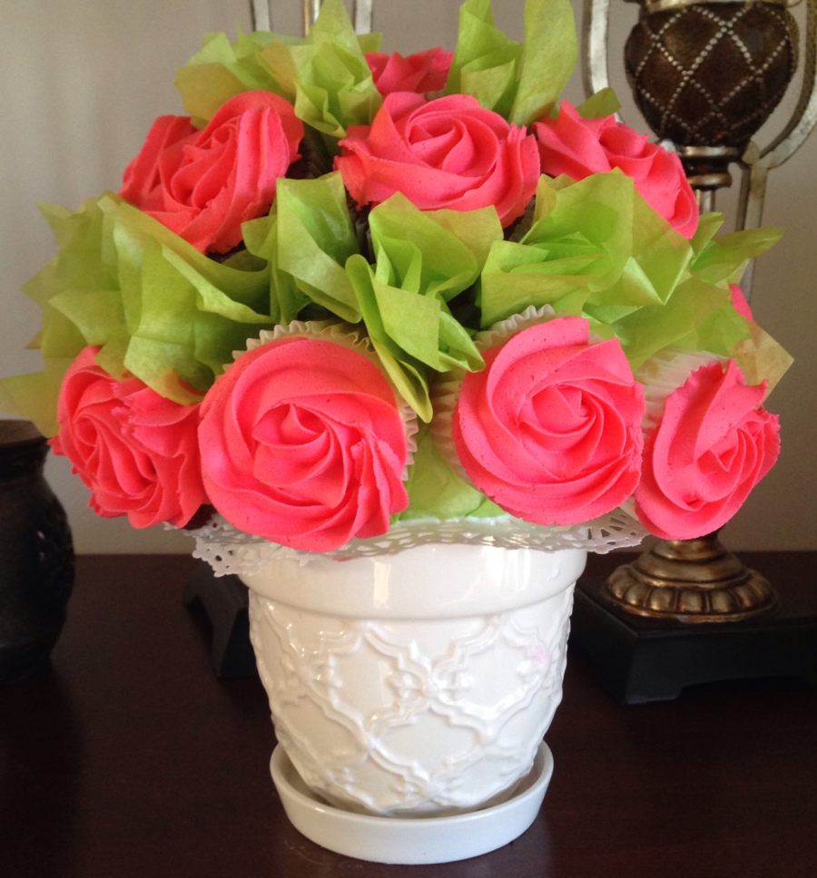 Tropicana Rose Cupcake Bouquet on Cake Central