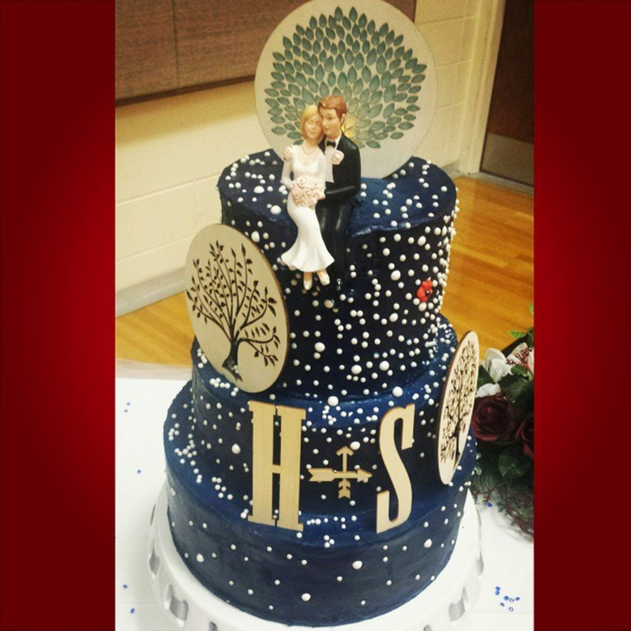 Starry Night Wedding Cake - CakeCentral.com