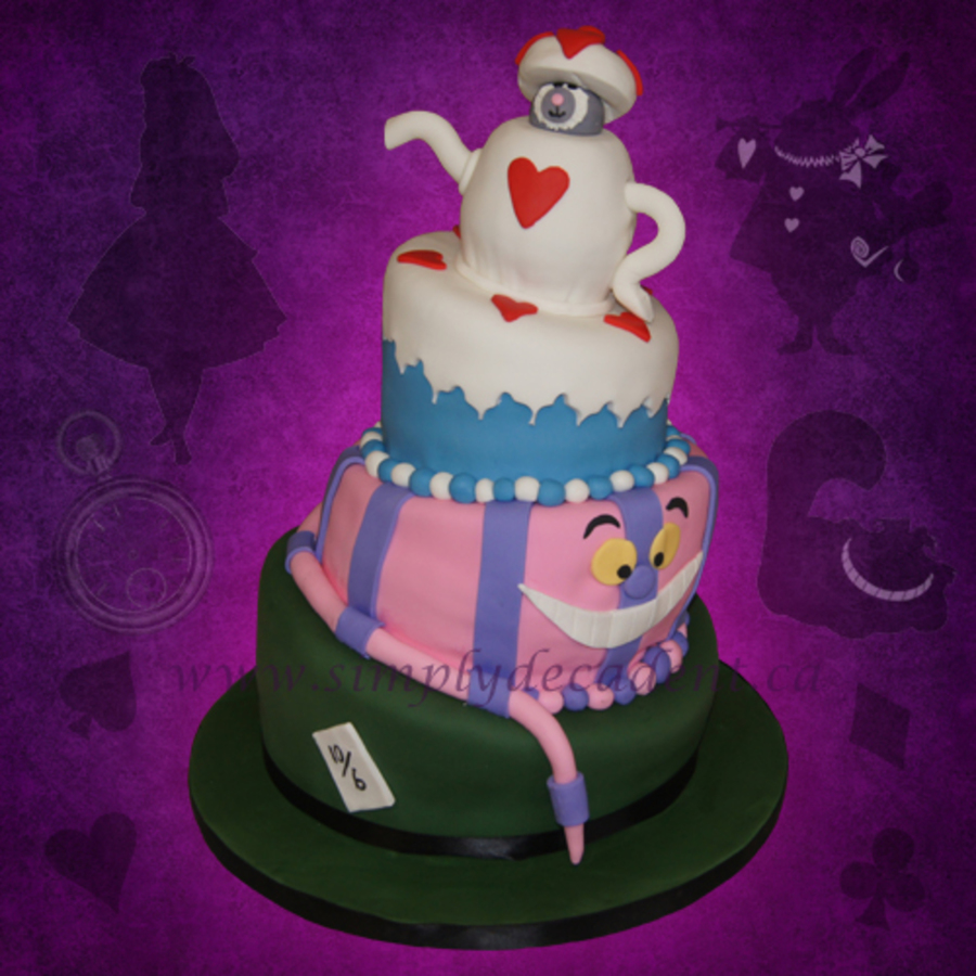 Disney Alice In Wonderland Mad Hatter Tea Party Birthday Cake