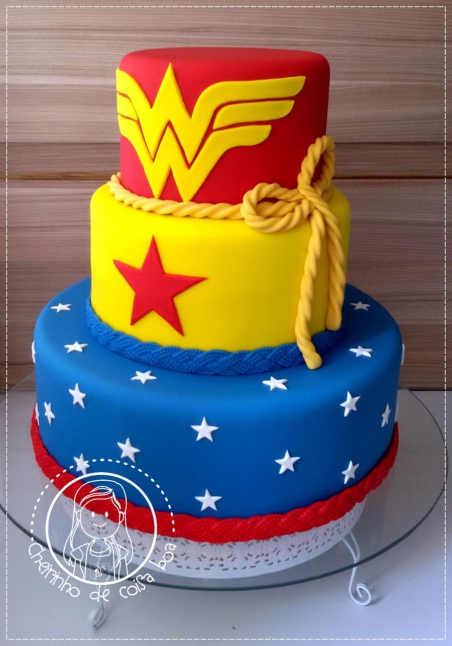 Superman Wonder Woman Birthday Cake