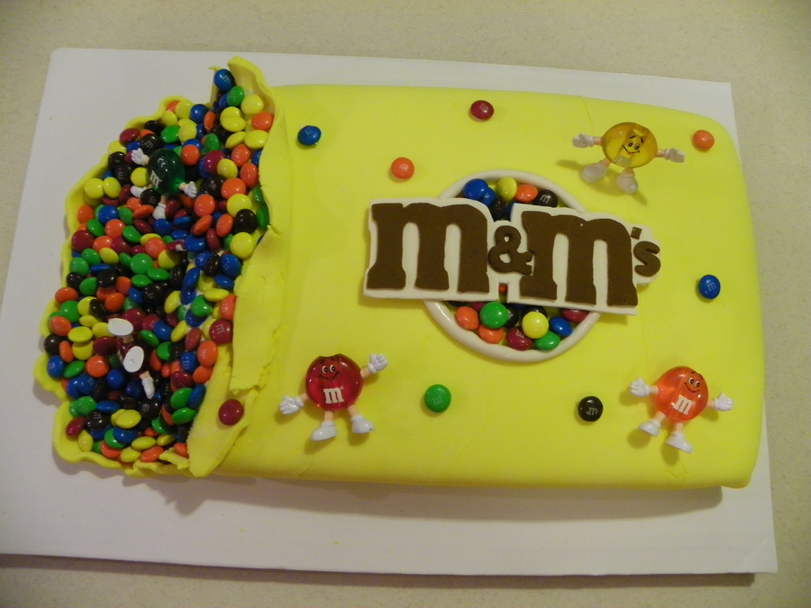 Birthday cake for m m lover for M m cake decoration