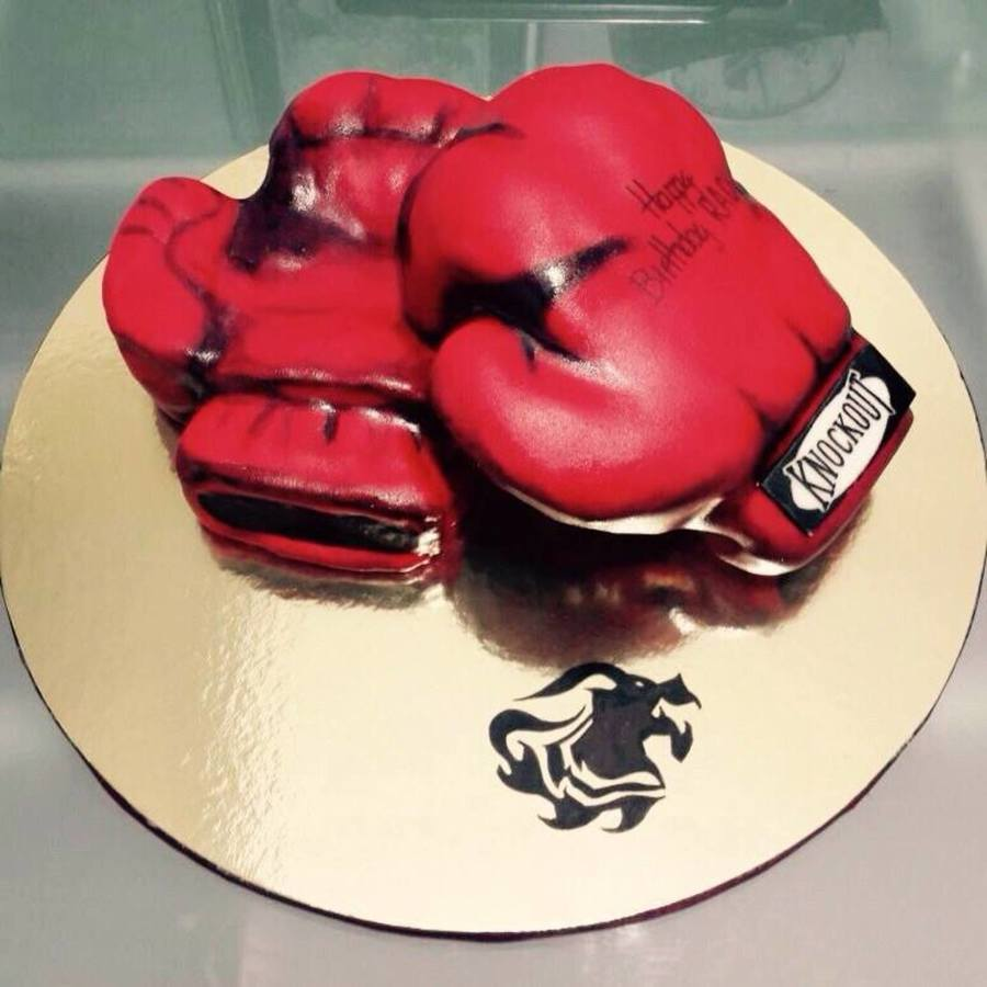 How To Make A Boxing Glove Cake Video