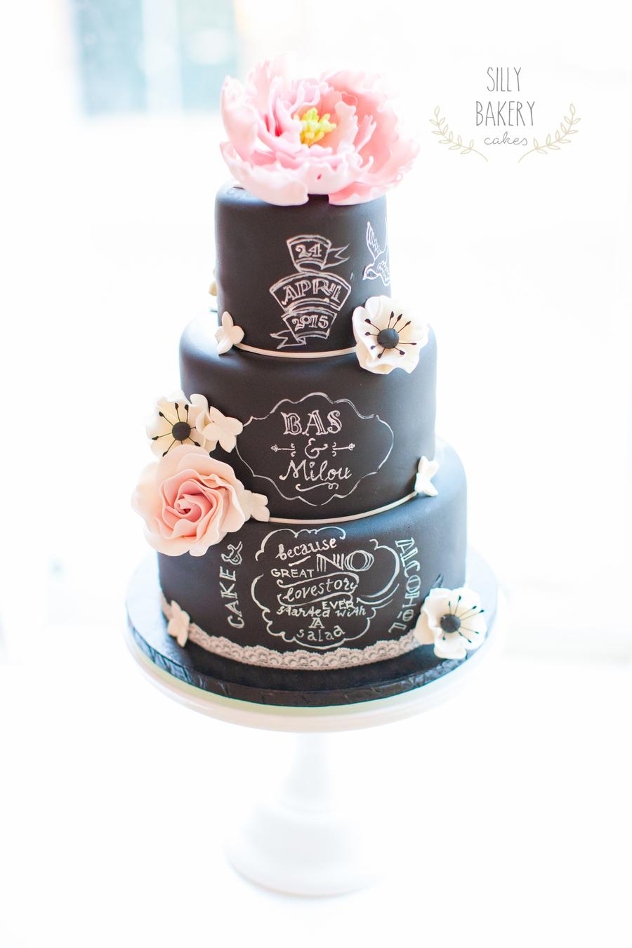 Chalkboard Wedding Cake Design Cakecentral Com