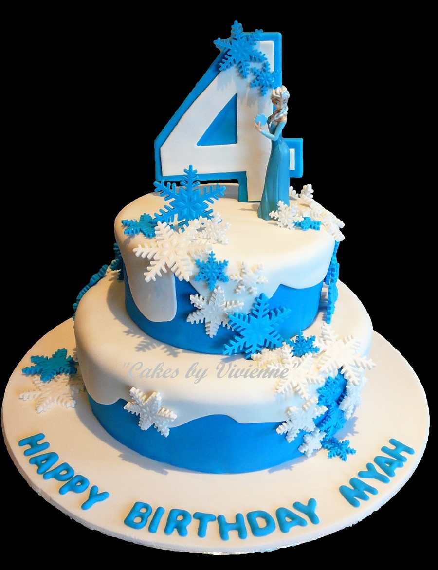 Frozen Theme Birthday Cake Featuring Elsa Cakecentral Com
