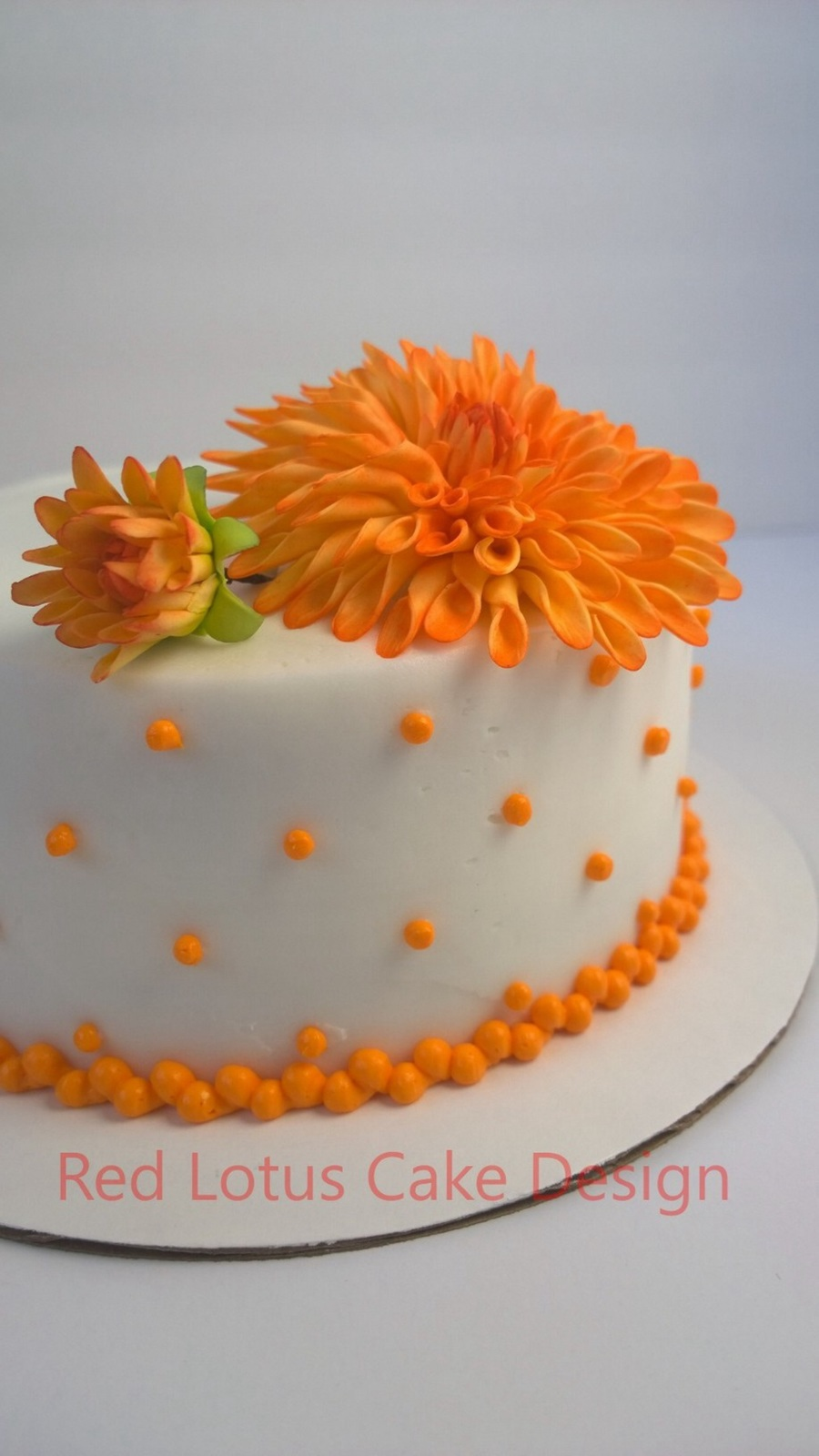 Spring Dahlia Simple on Cake Central