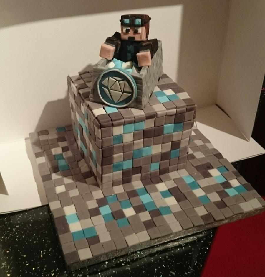 Decorating A Minecraft Cake