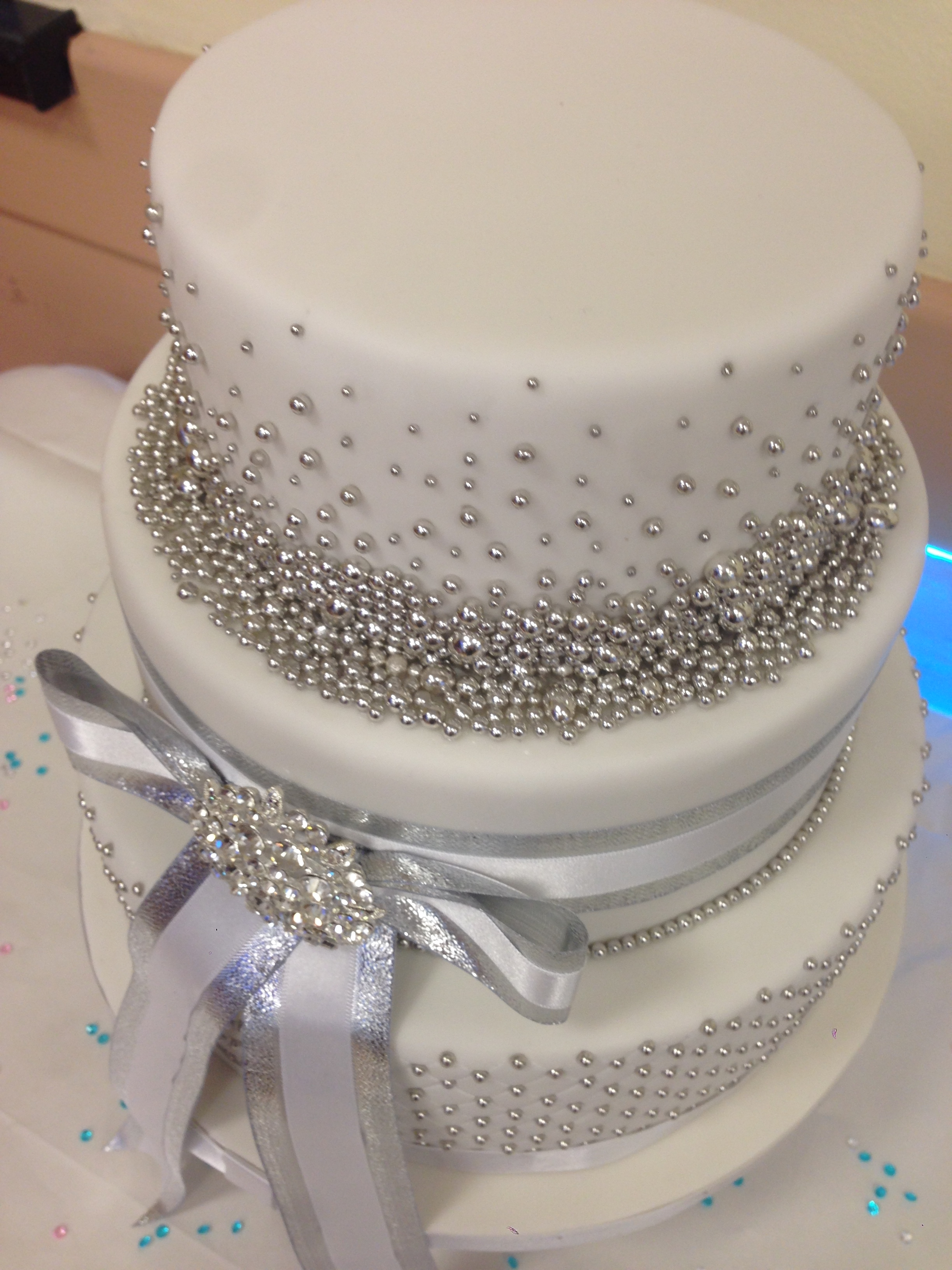 25Th Silver Wedding Anniversary Cake CakeCentral