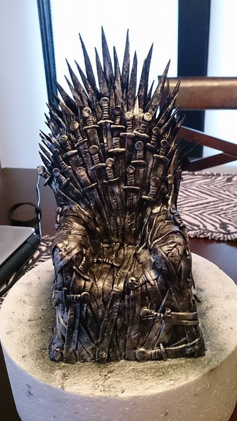 How To Make An Iron Throne Cake Topper
