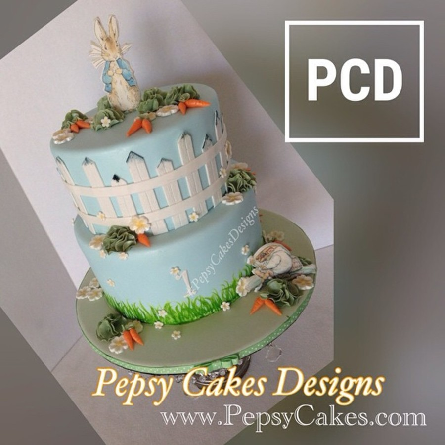 Amazing Peter Rabbit 1St Birthday Cake Cakecentral Com Personalised Birthday Cards Epsylily Jamesorg