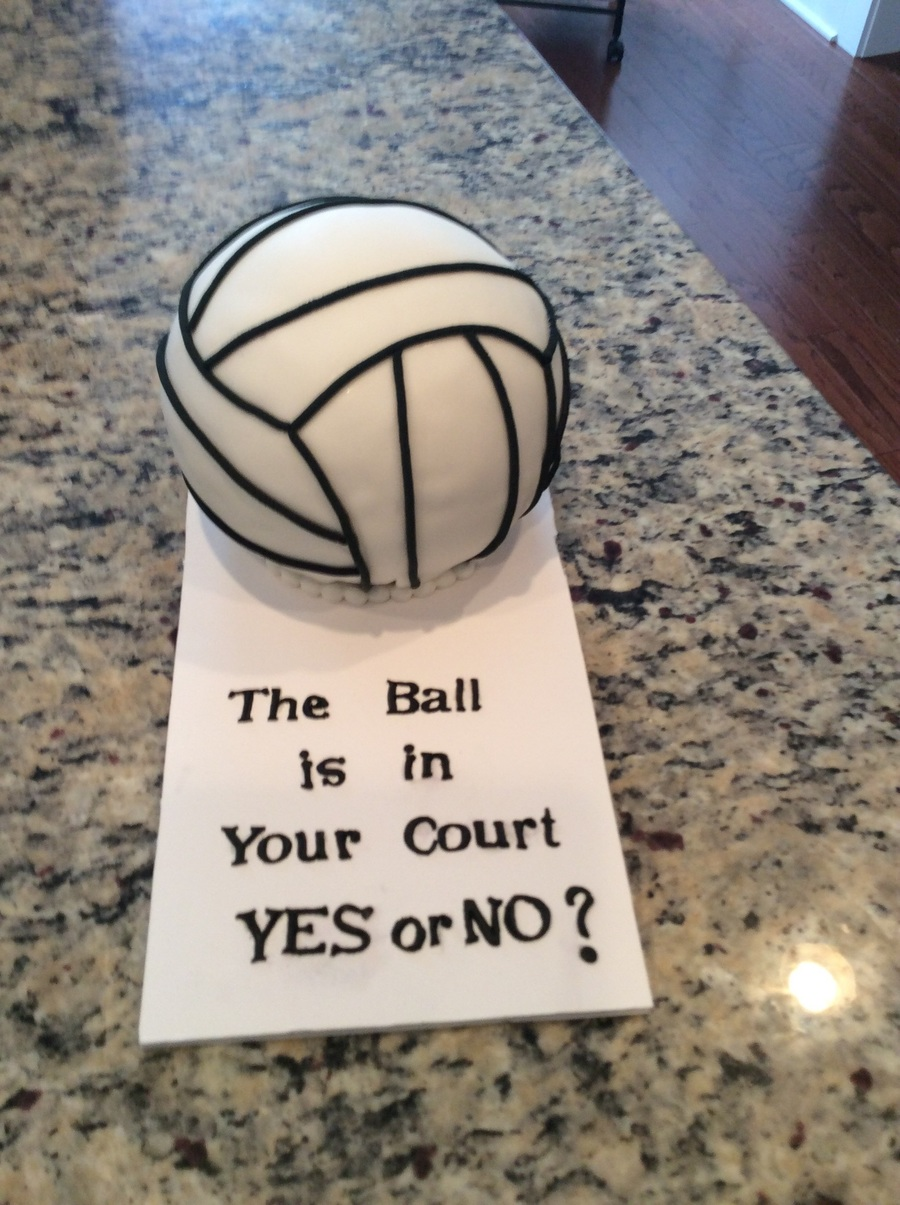 Volleyball Prom Proposal Cake - CakeCentral.com