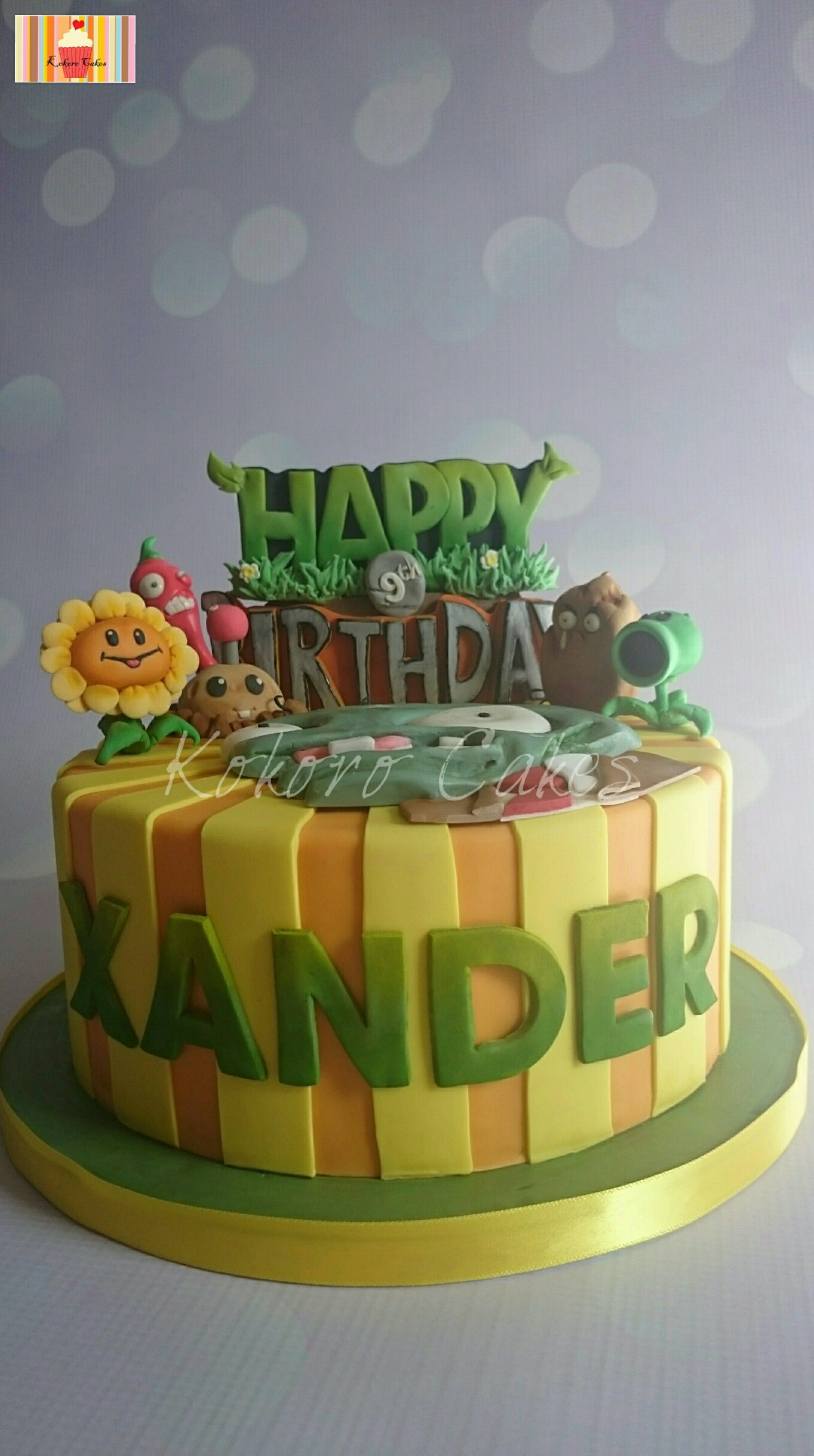 Plants Vs Zombies Themed Cake - CakeCentral.com