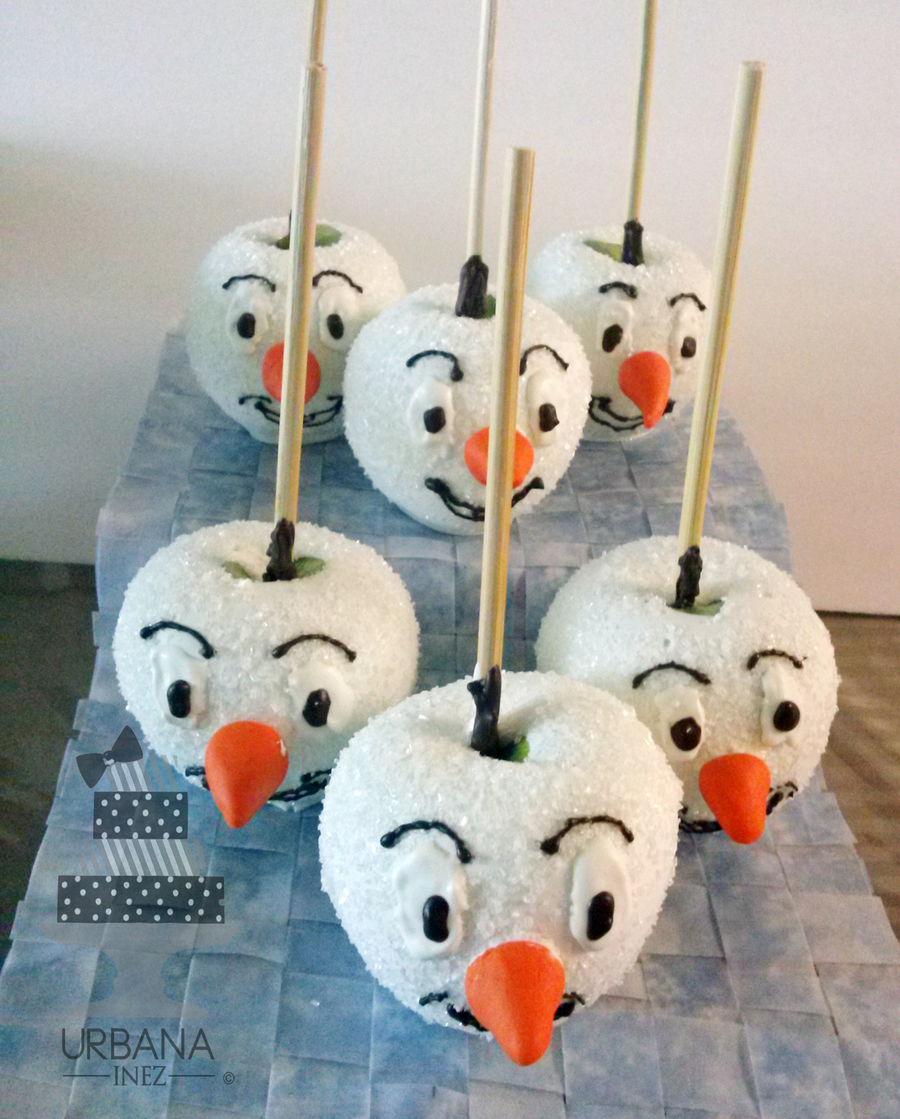 olaf chocolate covered apples on cake central