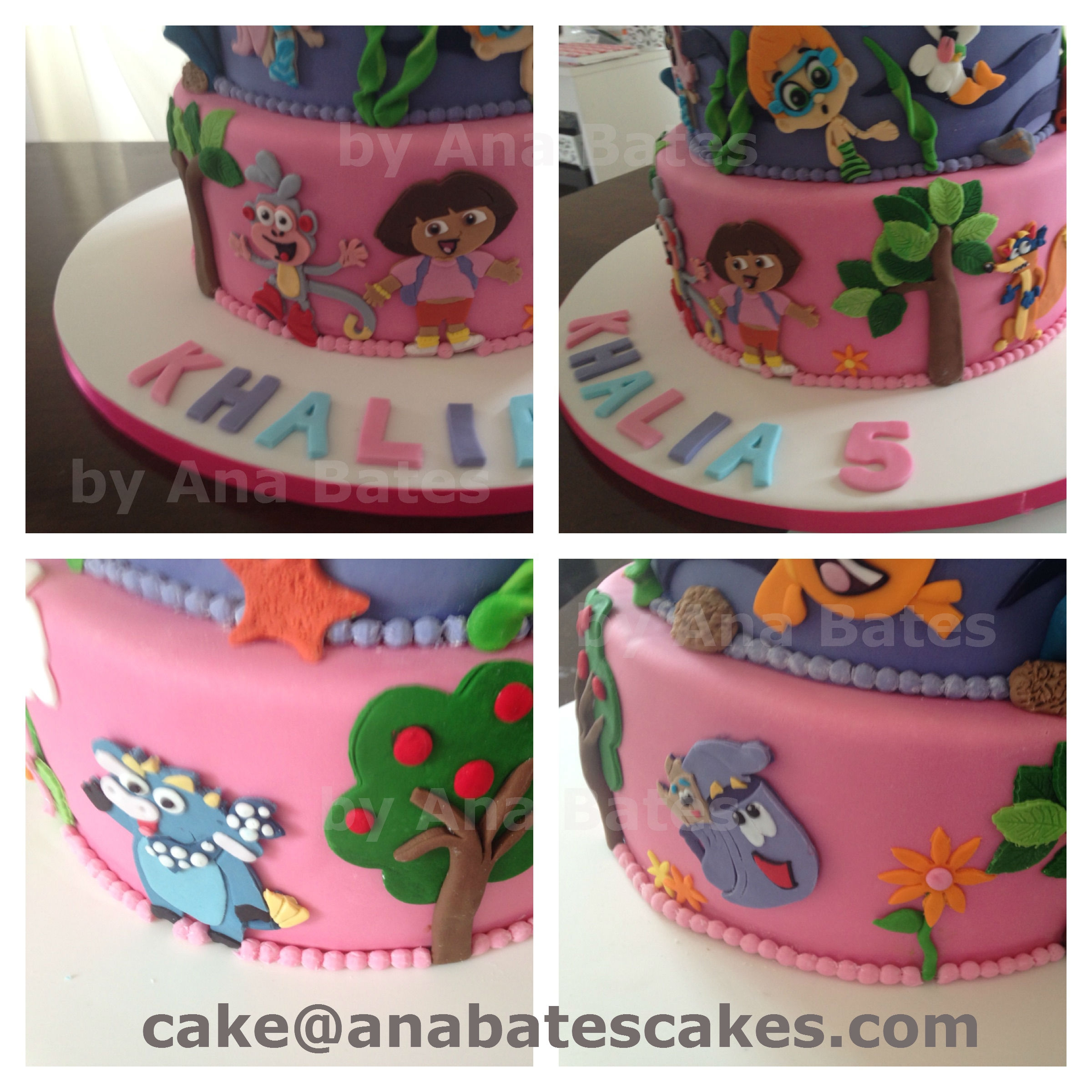 frozen cake dora cake bubble guppies cake cakecentral com