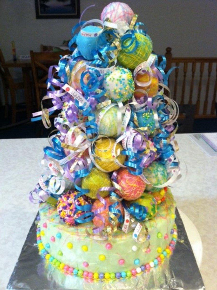 Birthday Cake Pop Tower On Central