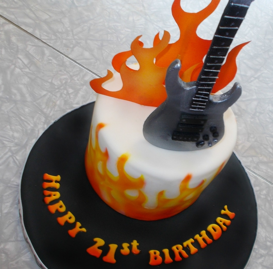 Guitar Fondant Cake