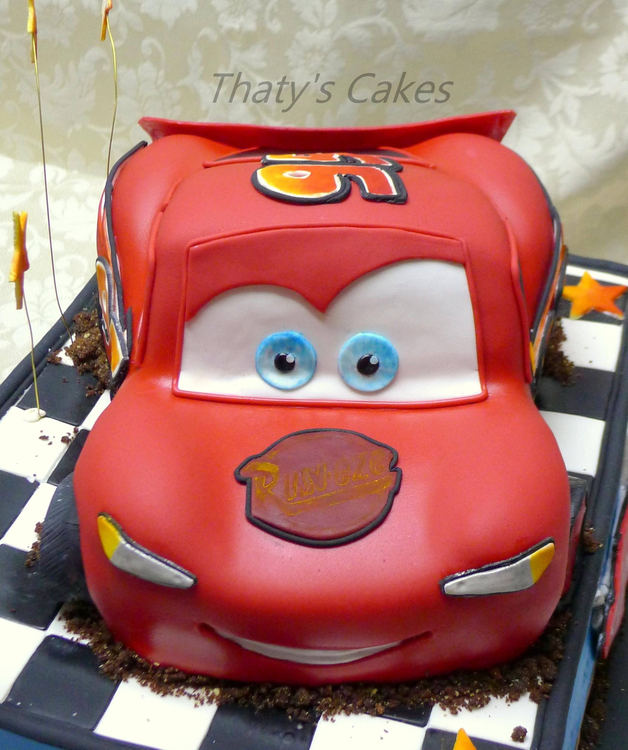 Lightning Mcqueen Cake - CakeCentral.com