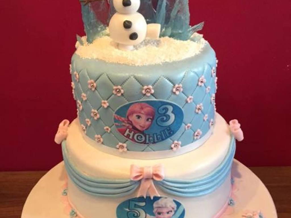 Disney Frozen Birthday Cake For Sisters Cakecentral
